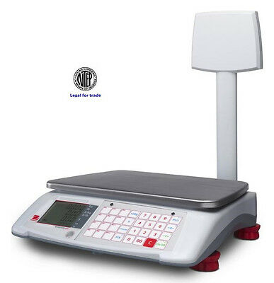 Ohaus Price Computing Scale/Pole  A71P15DTNUS NTEP,Legal For Trade,30X0.01LB,New