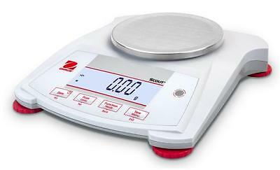 Ohaus SP602 Lab Balance, Compact Gold Portable Scale, 600gX0.01g, AC Adapter,New