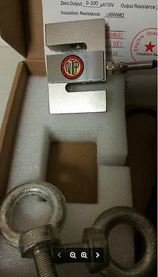 S-TYPE LOAD CELL HANGING/CRANE SCALE ALLOY STEEL,1000LB,20' Cable,2 Eye Bolt,NEW