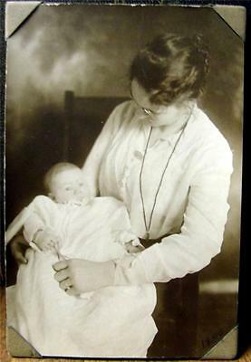 Great Old 1900 Antique Photo Momma Joan & Baby Phillis Cabinet Card NICE Look HL