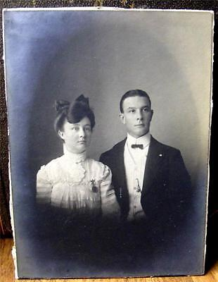 Great Old Antique Photo Man and Wife Cabinet Card NICE Look HL