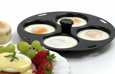"NORPRO 992 Nonstick 4 Egg Poacher Poached Eggs Fits 10"" to 12"" Skillets"