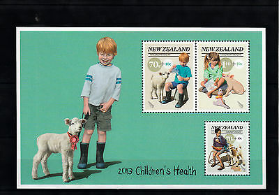 New Zealand 2013 MNH Children's Health Country Pets 3v M/S Farm Animals Pig