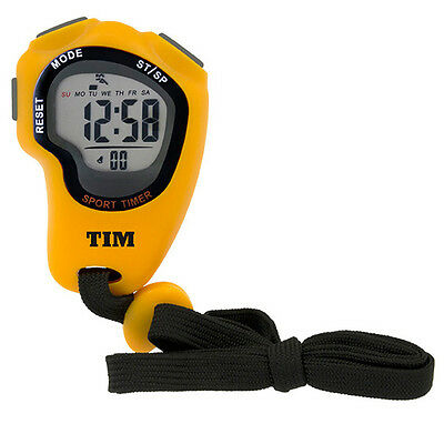 LCD Sports Stopwatch - Fitness Exercise Gym Running Athletics Stop Watch TIM902Y