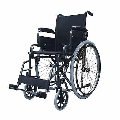 Lightweight folding self propel wheelchair flip up armrests and lap belt ECSP02