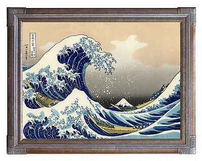 Hokusai The Great Wave of Kanagawa Fine Art Poster Print in Canvas or Paper Card