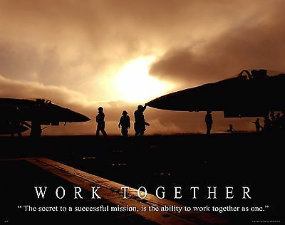 US Military Motivational Poster Art Navy Air Force Jets Soldier Academy  MILT02