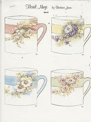 Floral Mugs Set #5 by Barbara Jones china painting study