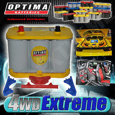 Optima Yellow Top Battery 12 Volt New Agm D34 750Cca Deep Car Audio Big Sound