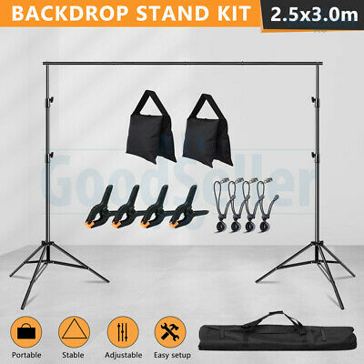 2.5X3M Heavy Duty Photography Studio Background Backdrop Support Stand KIT+CASE