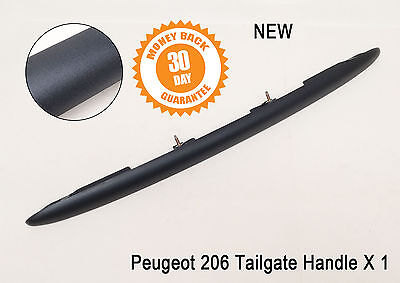 Peugeot 206 Tailgate Boot Handle Trim Moulding Plynth Number Plate 5 Door Black