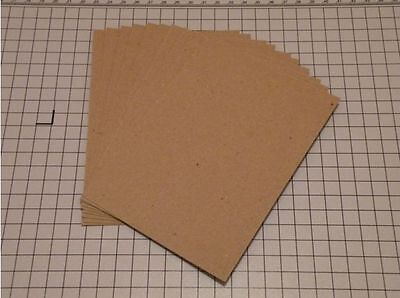 Eco 10 Sheets of A6 Rough Brown 280GSM Rustic Kraft Craft Card