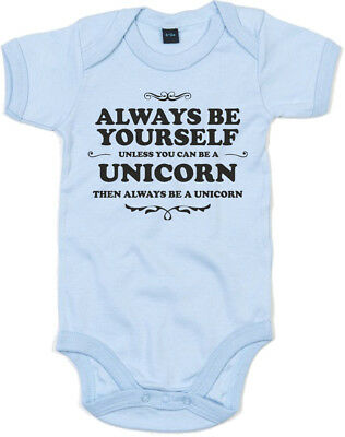 Always Be Yourself Unicorn, The Last Unicorn inspired Kid's Printed Baby Grow