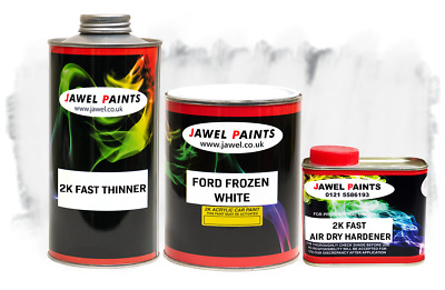 2k Acrylic Car Paint Ford Frozen White 2.5Litre Kit Direct High Gloss