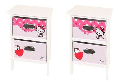 Hello Kitty Bedroom Package 2 X 2 Drawer Storage Units