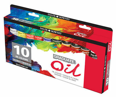 Daler Rowney Graduate Oil Selection Set 10 x 38ml