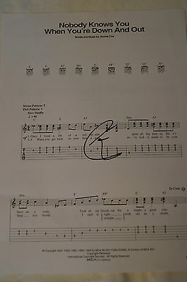 ERIC CLAPTON - Signed  Nobody Knows You .. Personally Signed by E.C. w/ COA.