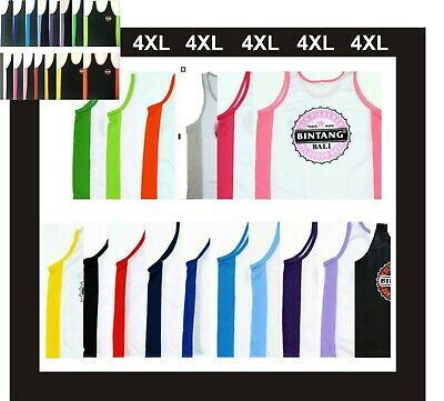 BALI BINTANG BEER SINGLET T SHIRT ASSORTED COLOURS SIZE 4XL - Big Mens XXXXL