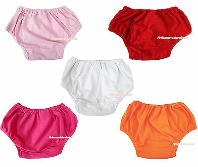 Plain Solid Color Red White Pink Newborn Baby Boy Girl Pantie Bloomer  6m-3Y