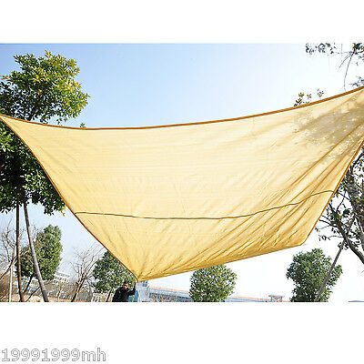 Outsunny 12' X12' Square Sun Sail Shade Shelter Canopy UV Top Cover Pool Sand