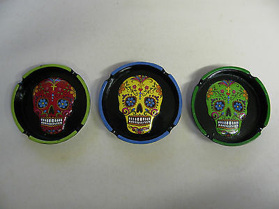 Ashtrays Various Novelty Colourful Day Of The Dead Butts Ash Trays Stubb Out BN