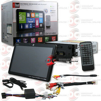 """DUAL DV1014BH CAR 1DIN 10.1"""" TOUCHSCREEN DVD CD PLAYER BLUETOOTH iPHONE ANDROID"""
