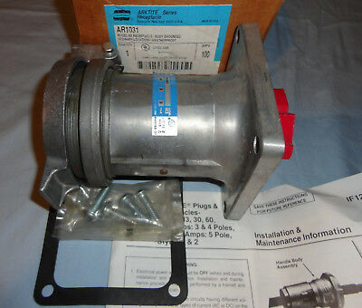 Crouse Hinds Pin&Sleeve AR1031 Receptacle 100A 3W3P Cooper Arktite NEW
