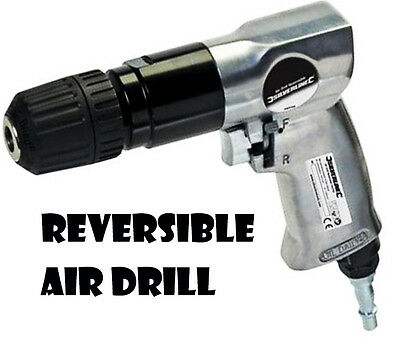 "Heavy Duty Reversible Air Drill 1/4"" Quick Connectors 10Mm Gun Keyless Chuck U84"