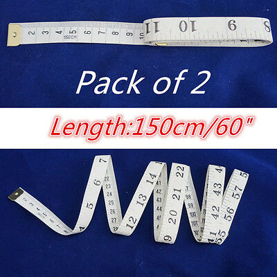 2 Pcs Tailor Body Sewing Measure/Measuring Soft Tape Ruler Dual Sided Standard