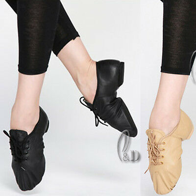 Jazz Dance Shoes Soft Genuine Leather Split Sole For Child To Adult Da008