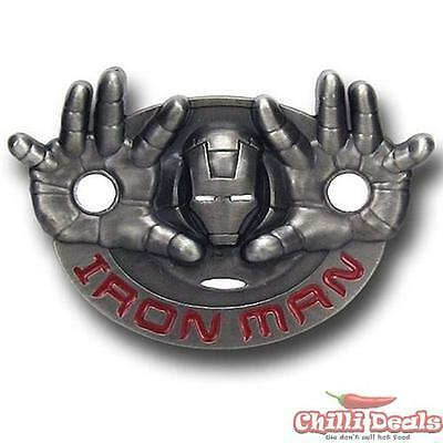 Marvel comics 3D IRON MAN style mens metal/steel Ironman Belt Buckle