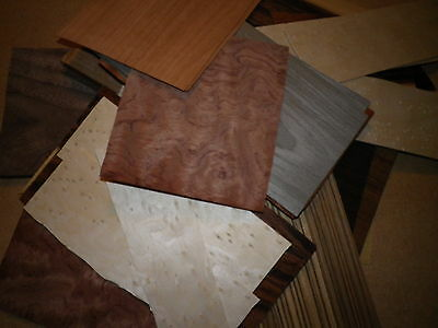ART & CRAFTS  exotic wood veneer 60 +   pieces of a  good variety