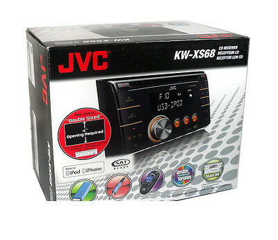 JVC KW-XS68 CD/MP3 Receiver front Aux Input Wireless Remote +FREE CELL ANTENNA