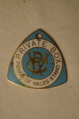 VRC - Victoria Racing Club - Private Box Badge - Prince of Wales Stand.