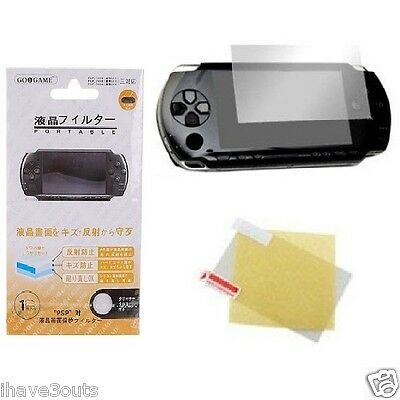 LCD Screen Protector + Cloth For Sony PSP 1000 2000 3000 Fat Phat & Slim Series