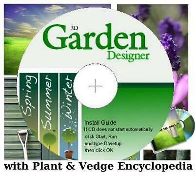 3D Garden Design Software Inc Plant & Vedge Encyclopedia for CD PCs & Laptops