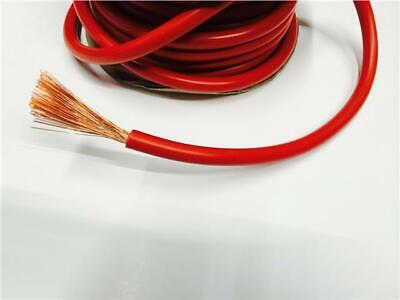1M Red Single Core Cable 60 Amp For Rewire Rewiring Home Car