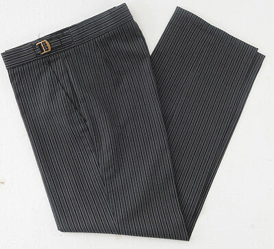 T-5. Mens grey black pinstripe masonic suit trousers - dress / formal / wedding