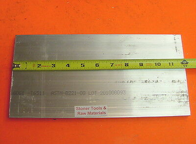 "20 Pieces 1/2"" X 6"" ALUMINUM 6061 FLAT BAR 12"" long T6511 .500 Plate Mill Stock"