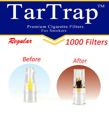 TarTrap Disposable Cigarette Filters Bulk Pack (1000 Filters)