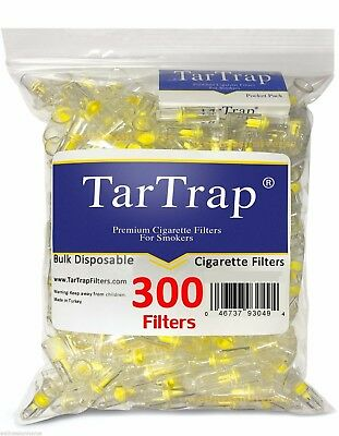 TarTrap Disposable Cigarette Filters Bulk Pack (300 Filters) Nicotine Tar Filter
