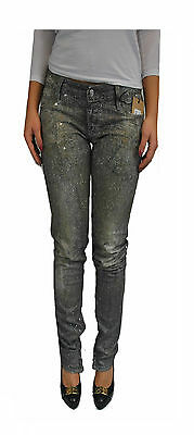 DSQUARED²,Damen,Women,Hosen,Jeans,Swarovski Effekt,NEU,Galaxy,Made In ITALY,Grau
