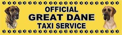 GREAT DANE OFFICIAL TAXI SERVICE Dog Car Sticker  By Starprint