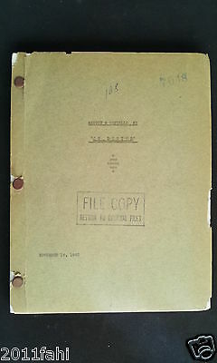 """Abbott and Costello, Movie Script to """"Hit the Ice"""" 1943, File Copy Dated 1942"""