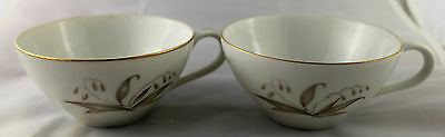 """2  Kaysons Golden Rhapsody 2"""" Flat Coffee Cup Replacements  FSH"""