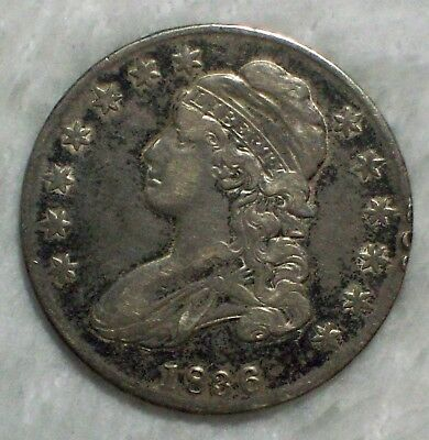 1836 BUST HALF DOLLAR *SILVER* O-114 *RARE* VF+/XF Detailing *PRICED TO SELL*