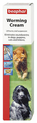 Beaphar / Sherleys Worming Cream For Cats & Dogs 18G Free Post