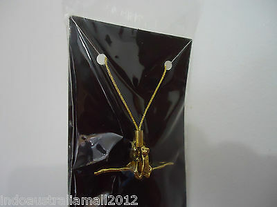 Beautiful Tiny Golden Metal Crane Hanging for Peace (HH028)
