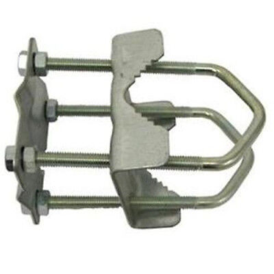 """2 inch x 2 inch Aerial / Satellite Mast 8 Nut 2"""" Double Shelley Clamp"""