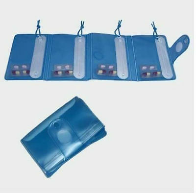 Pill Dispenser Bag Compact Tablet Wallet Pocket Easy Storage Travel Medicine Aid